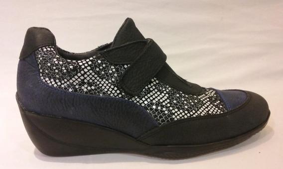 Zapato Cuero Con Abrojo Art S-130. Marca Alen