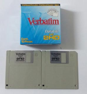 Diskettes 3.5 Pulgadas Caja X10 1.4 Mb Verbatim$