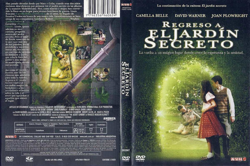 Regreso A El Jardin Secreto Camilla Belle David Warner Dvd Mercado Libre