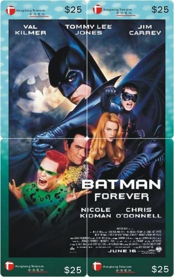 Batman Forever - Rompecabezas Con Tarjetas Telefonicas