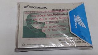 Manual Proprietario Titan 150 Ks/es/esd Spor Job Honda Usado