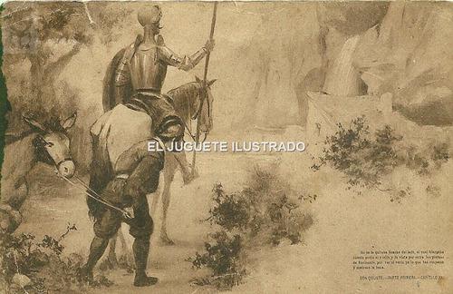 Pv05 Antigua Postal Don Quijote Circa 1900