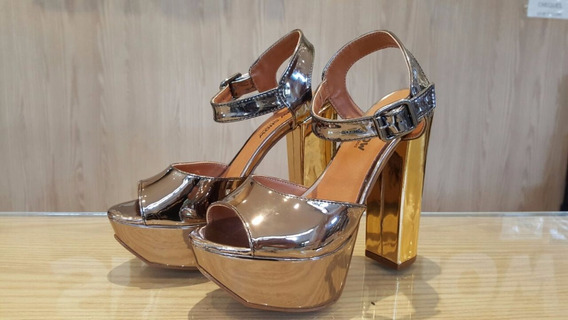 Sandalia Ana Bela Com Verniz Sapatos