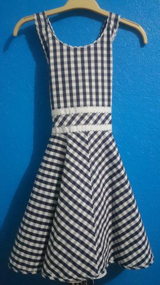 Vestido Cuadrado Marca Jessy Franz Para Niña Talla 10