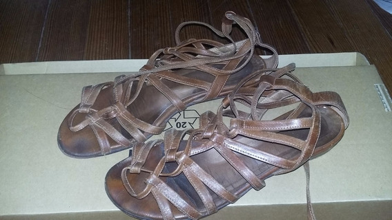 Zapatos Chatitas Sandalias Talle 38 De Cuero