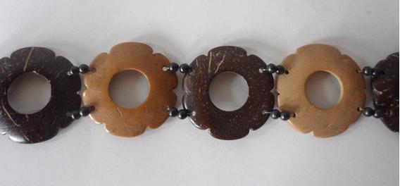 Cinturon Cinto Caderin De Coco Precioso