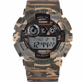 Relógio Casio G-shock Camuflado Gd-120cm-5dr 100% Original