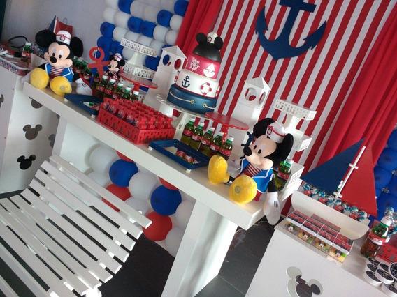 Aluguel Decoracao De Festa Mickey Marinheiro Ou Ursos