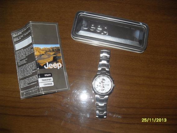 Relogio Jeep, Super Bonito, Estojo De Metal.