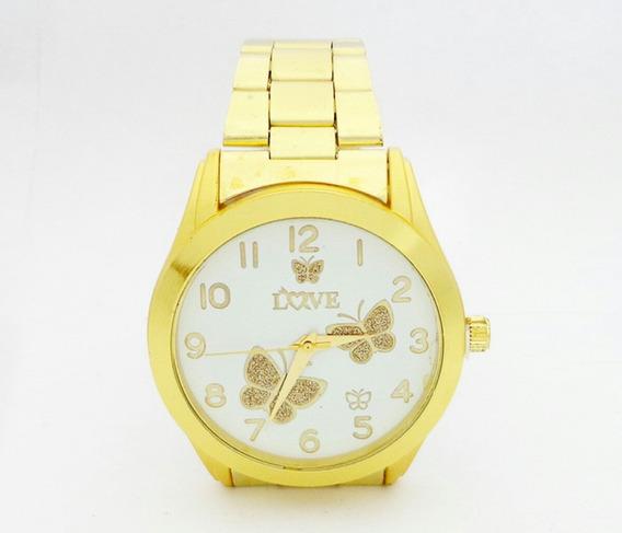 Relógio Feminino Dourado Um Bom Produto E Bem Barato