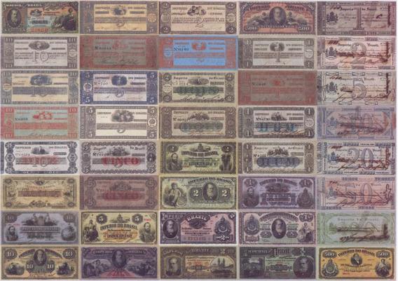 Réplica Cédulas De Réis - Todas 71 Cédulas Da Época Império
