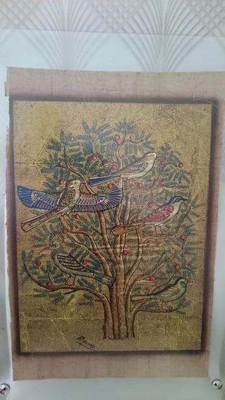 Papiro Egípcio Importado, Original, Decorativo ! - Árvore.