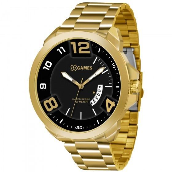 Relógio Xgames Xmgs1016 P2kx Dourado Redondo Aço - Refinado