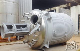Reator Aço Inox 316, Cap. 12m³, Serpentina 1/2 Cana