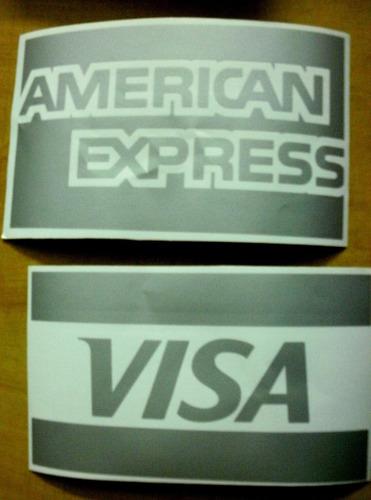 Ploteo De Vidriera Tarjeta De Credito, Visa, Mastercard