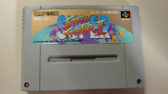 Fita Super Famicom Original Super Street Fighter 2 Impecavél