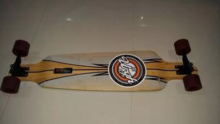 Skate Longboard Urgh Bamboo (rebaixado) Com Red Bonnes