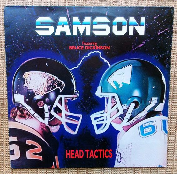 Lp Samson - Head Tactics / Bruce Dickinson Disco Raro
