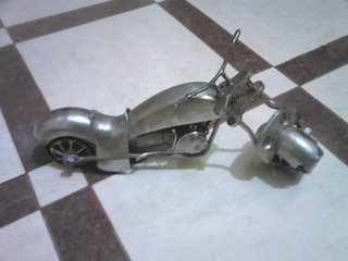 Escultura De Motocicleta De Coleccion
