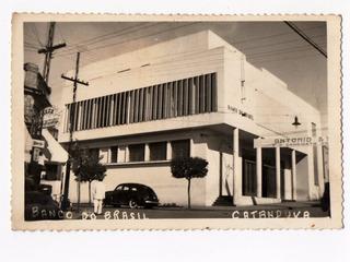 Cartao Postal Fotografico Banco Do Brasil Catanduva Anos 40