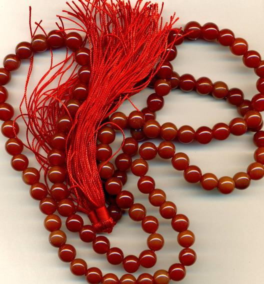 Mala Collar De En Calcedonia Roja -envio Gratis