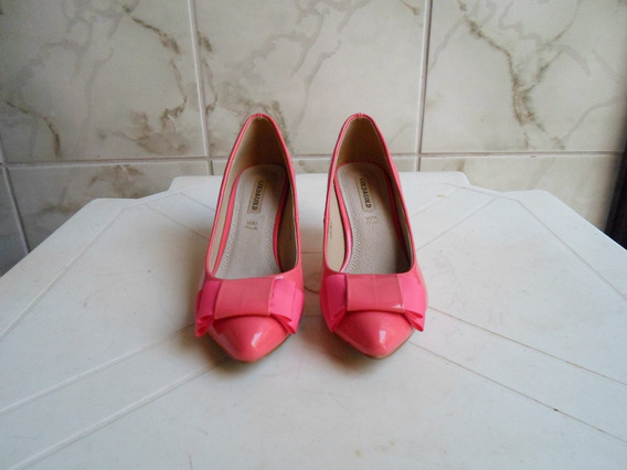 Sapato Rosa Italiano Com Laço Frontal