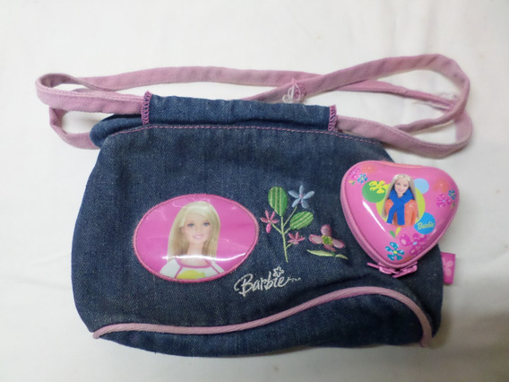 Cartera Bolso Mattel Barbie + Monedero Corazon Original Lote