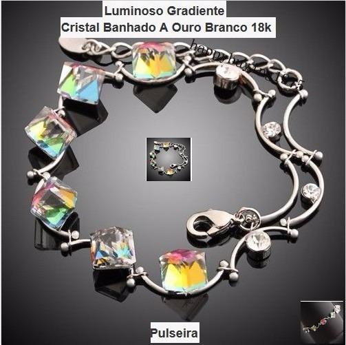 Cristal 18k Bracelete-folheado