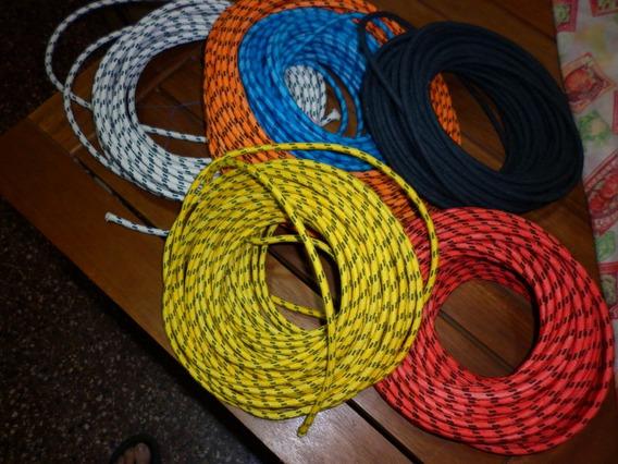 Cable De Tela Antiguo 2x0,75 Mercerizado Electrodomesticos