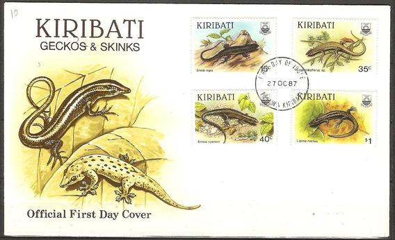 # Mcn # Kiribati 1987 - Lagartos E Lagartixas - Fdc Novo