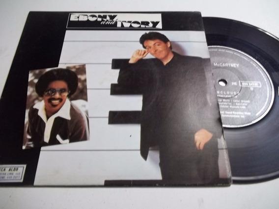 Vinil Compacto Paul Mccartney Stevie Wonder Ebony And Ivory