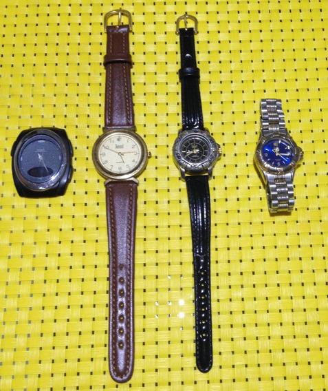 Lote Com 4 Relógios Anos 90 - 3 Dumont E 1 Casio