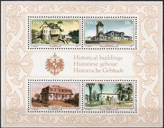 Sudoeste Africano - Construções Históricas - 1977 - Bloco