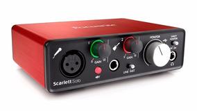 Focusrite Scarlett Solo 2nd Gen Interface Audio