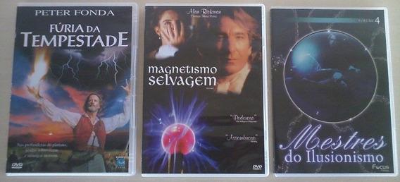 3 Filmes De Magia E Ilusionismo (em Dvd)