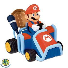 Mini Veículo Super Mario Kart Coin Racers Mario Dtc