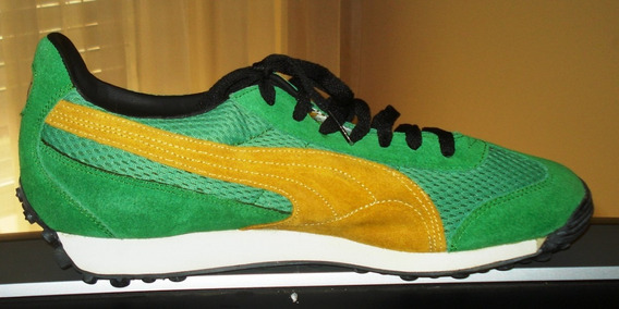Puma Estupendas Zapatillas Modelo Anjan Verde Amarillo T.44