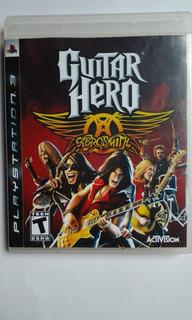 Ps3 Guitar Hero Aerosmith Sin Manual $235 Usado Mikegames