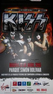 Boleta De Kiss Conmemorativa