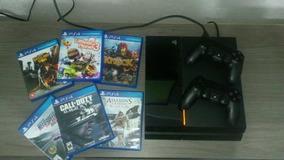 Playstation 4 - Ps4 2 Controles E 6 Jogos