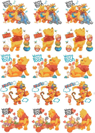 Calcos Vitrificables Winnie Pooh