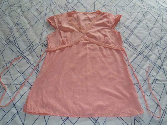 Blusa Camisola Remera Escote En V Talle M Con Manguitas