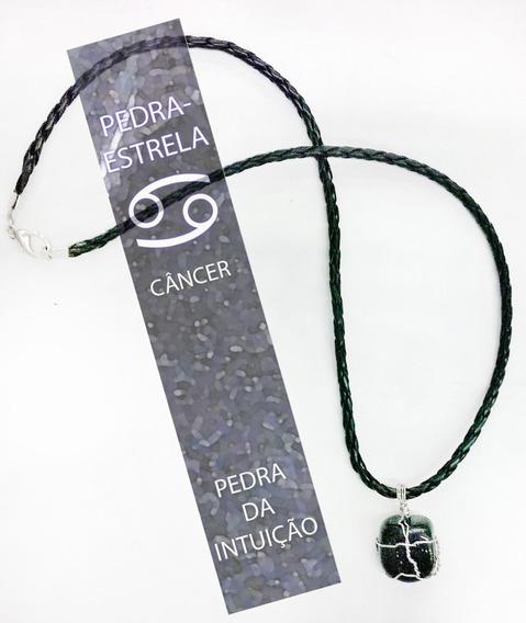 Cordão Pedra-estrela Signo Câncer Hippie Amuleto Talismã
