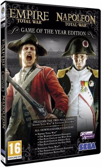Empire Total War + Napoleon Total War - Dvd Pc Frete 8 Reais
