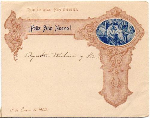 Argentina 1900. Sobre Carta Entero Postal De 5c. Gj Scz 5 C