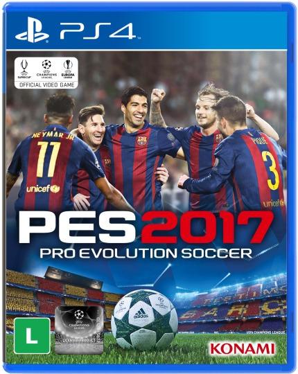 Jogo Mídia Física Pro Evolution Soccer 2017 Pes 2017 Ps4