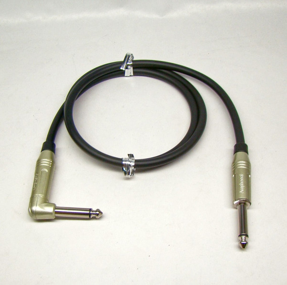 Guitar Cable 2524 Mogami Amphenol P10 M X P10mono 90° 1 M