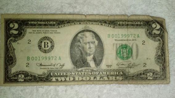 Nota Antiga 2 Dólares