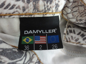 Calça Jeans Estampada Damyller Tam: 36