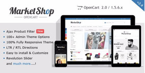 Marketshop Theme Multi-purpose Tema Opencart V1.5.x-v2.2.x